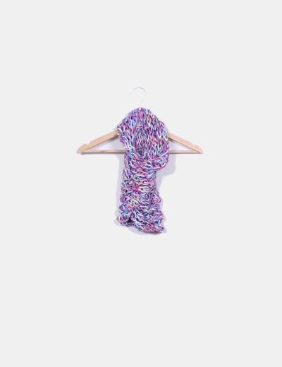 Cuello de lana lila