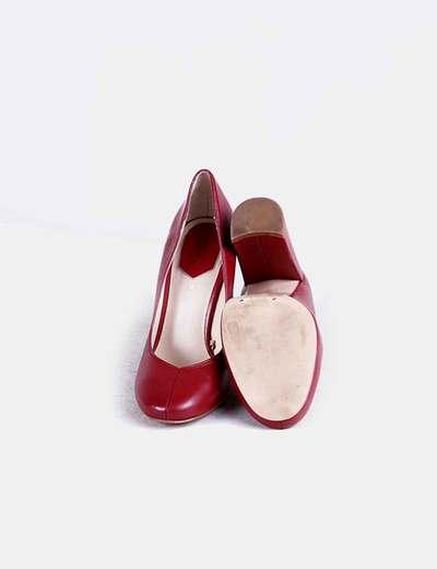 Tacón Zapatos Burdeos Zapatos Zapatos Burdeos Tacón Burdeos Ancho Ancho v8mynNO0w