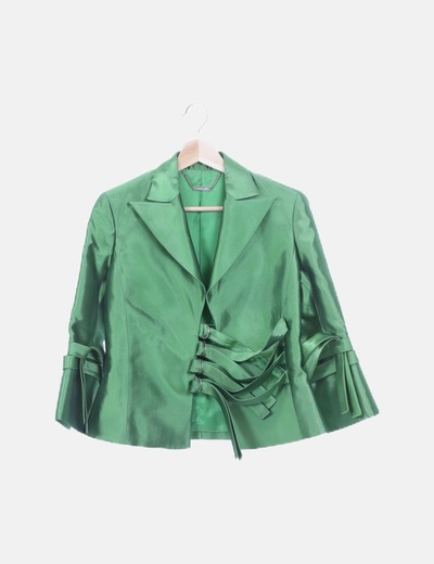 Blazer verde irisada