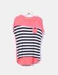 Camiseta coral con rayas NoName