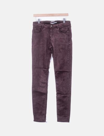 Jeans granates pitillos