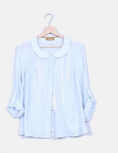 819ad18ee Donna Camisa azul cielo cuello bebe (descuento 86%) - Micolet