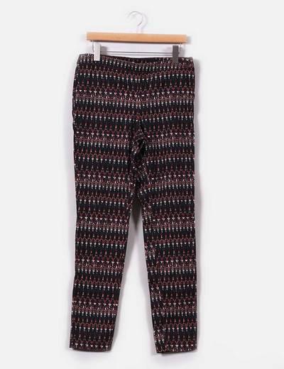 Pantalón negro estampado  con cierre de cremallera H&M