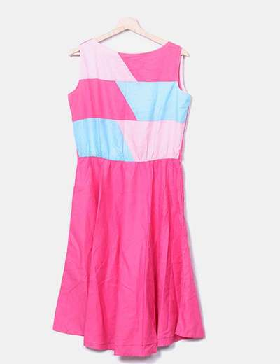 Vestido rosa combinado NoName