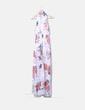 Vestido maxi blanco floral con aberturas NoName