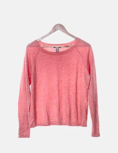 Jersey tricot coral cuello redondo