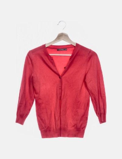 Cardigan tricot rojo