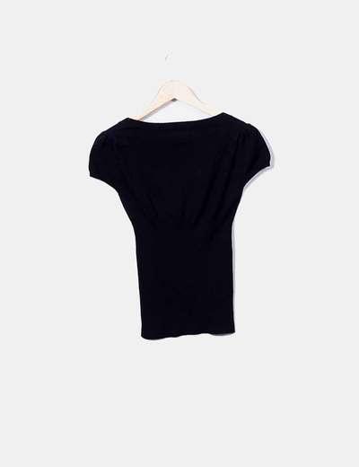 Camiseta de punto combinada