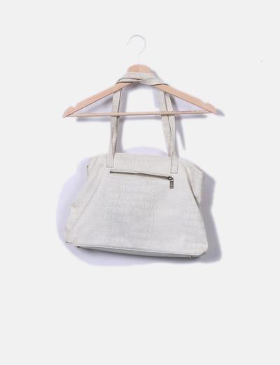 Bolso blanco texturizado