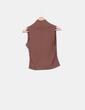 Top marrón botones laterales Zara