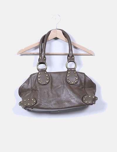 Bolso marrón con tachas NoName