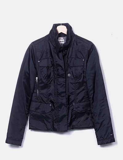 Black quilted jacket Hilfiger Denim