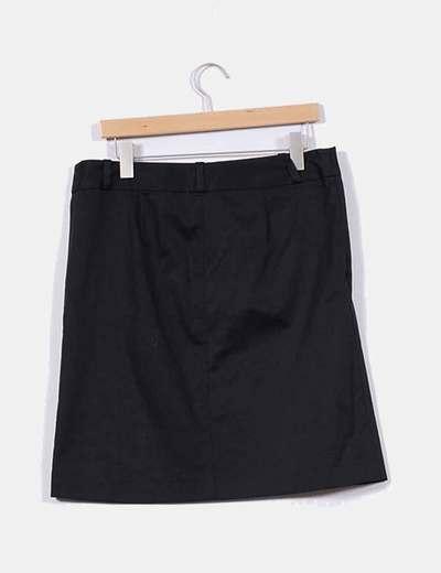 83bb7bb6ebd2f Zara Falda negra lisa (descuento 77%) - Micolet