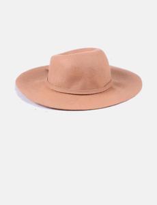 Sombrero fedora fieltro teja Parfois 3285fe53504