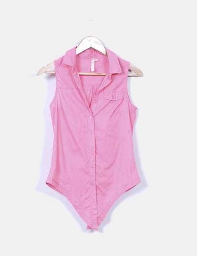 Camisa rosa sin mangas Bershka