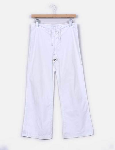 Pantalon blanco recto