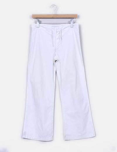 Pantalón blanco recto Zara