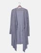 Maxi chaqueta fluida tricot gris Kookaï