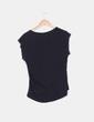 Camiseta negra con strass en las mangas Suiteblanco