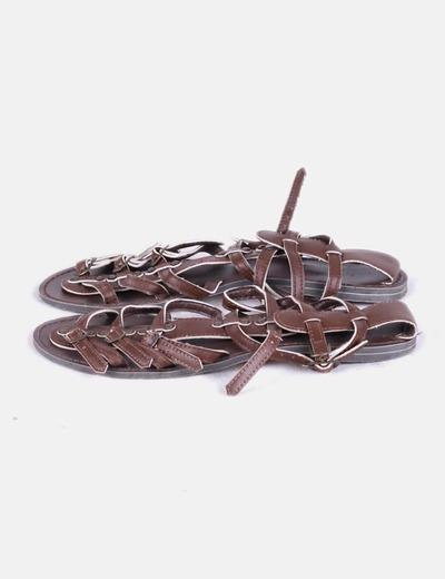 Sandales marron boucles Suiteblanco