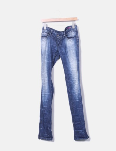 Pantalon en denim foncé Salsa Jeans