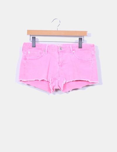 Short rosa flúor Pepe Jeans
