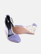 Zapato ante gris combinado con cuña estampada Elieta Hari