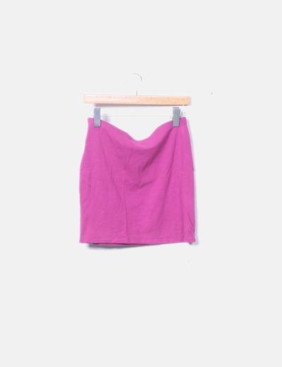 Falda tubo rosa