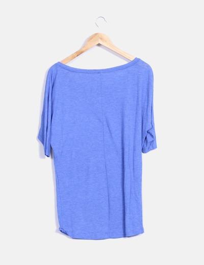 Camiseta azul klein jaspeada