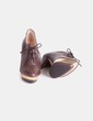 Zapato abotinado marrón detalle dorado Cuplé
