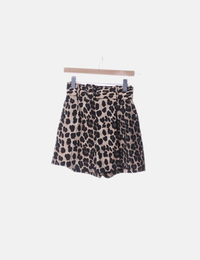 Short fluido animal print