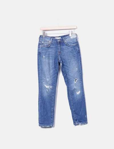 Jeans ripped Zara