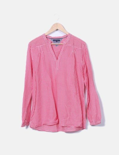Blusa de cuadros roja Tommy Hilfiger