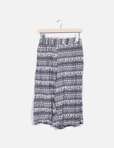Pantalón culotte estampado lm