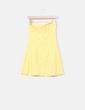 Vestido palabra de honor guipur amarillo Suiteblanco