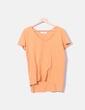 Camiseta de manga corta naranja Zara