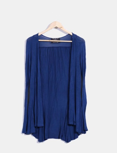 Cárdigan fino azul Zara