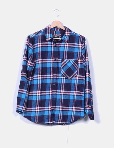 Camisa franela cuadros azules Forever 21