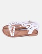 Sandalias blancas con tachas Gios eppo