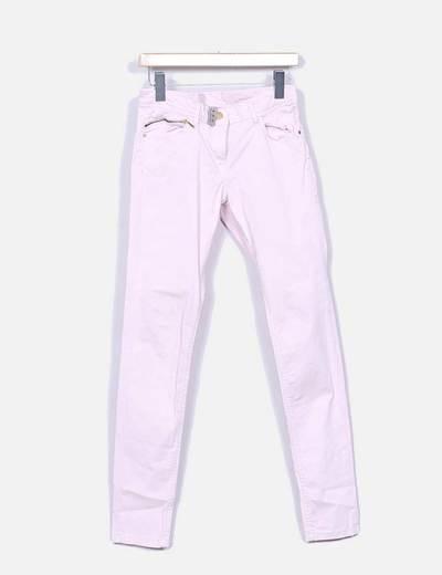Pantalon rose paille pâle Atmosphere
