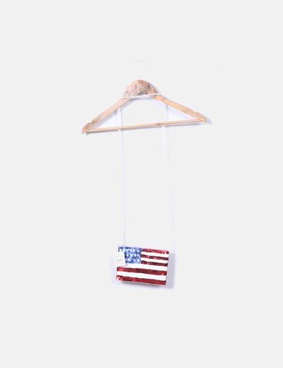 Bolso mini paillettes bandera