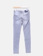 Jeans denim pitillo gris claro Bershka