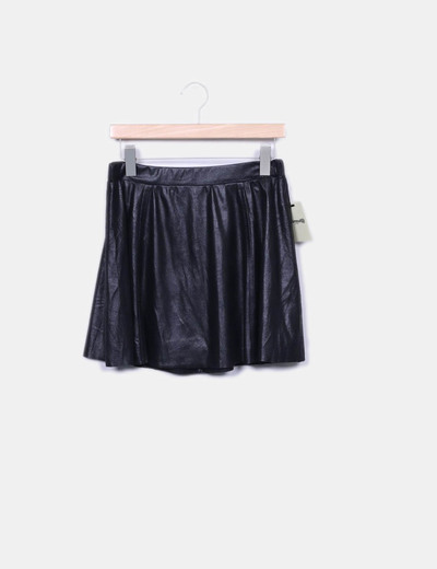 Black mini-skirt irisada El Corte Inglés