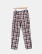 Pantalón marrón de cuadros Amano