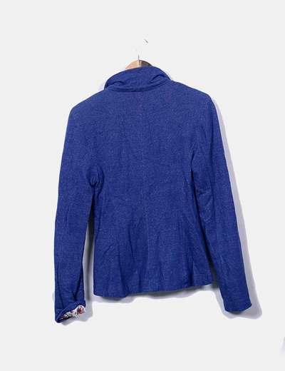 Blazer azul efecto denim