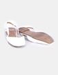 Zapato plano destalonado blanco acharolado Zara