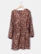 Vestido de gasa print leopardo  LM Lulú