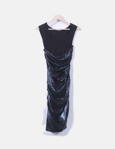 Vestido negro combinado Etxart & Panno