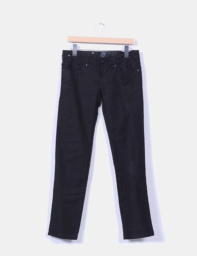 Pantalon denim negro