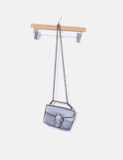 Bolso mini metalizado detalle herradura NoName